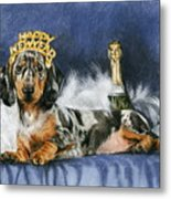Happy New Year Metal Print by Barbara Keith