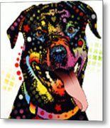 Happy Rottweiler Metal Print by Dean Russo