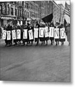 Harlem Protests The Scottsboro Verdict Metal Print by Everett