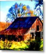 Harrison Barn Metal Print by Kathy Tarochione