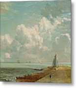 Harwich - The Low Lighthouse And Beacon Hill Metal Print by John Constable