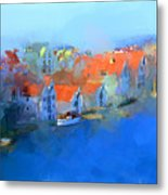 Haugesund Harbour Norway Metal Print by Michael Greenaway