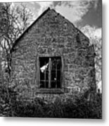 Haunted House In Black And White Metal Print by Chris Smith
