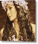 Hawaiian Wahine Metal Print by Himani - Printscapes