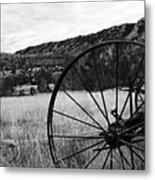 Hay Rake At The Ewing-snell Ranch Metal Print by Larry Ricker