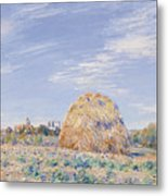 Haystack On The Banks Of The Loing Metal Print by Alfred Sisley
