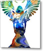 Healing Angel - Spiritual Art Painting Metal Print by Sharon Cummings
