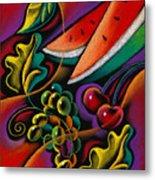 Healthy Fruit Metal Print by Leon Zernitsky