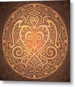 Heart Of Wisdom Mandala Metal Print by Cristina McAllister