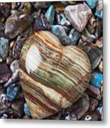 Heart Stone Metal Print by Garry Gay