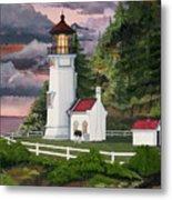 Heceta Head Lighthouse Metal Print by James Lyman
