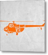 Helicopter Metal Print by Naxart Studio
