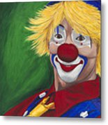 Hello Clown Metal Print by Patty Vicknair