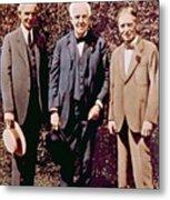 Henry Ford, Thomas Alva Edison, Harvey Metal Print by Everett