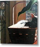 Her Basket Metal Print by Sandra Chase