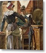 Her First Born Metal Print by Walter Langley