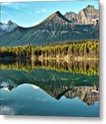 Herbert Lake - Quiet Morning Metal Print by Jeff R Clow