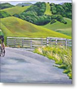 Hicks Valley Bike Ride Metal Print by Colleen Proppe