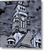 High Noon Black And White Metal Print by Tamyra Ayles