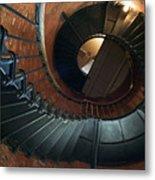 Highland Lighthouse Stairs Cape Cod Metal Print by Matt Suess