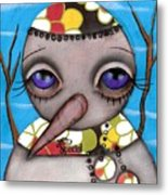 Hiiii Metal Print by  Abril Andrade Griffith