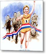 Hillary And The Race Metal Print by Ken Meyer jr