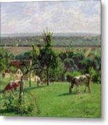 Hillside Of Vesinet Metal Print by Camille Pissarro