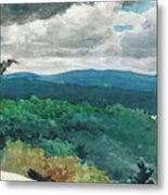 Hilly Landscape Metal Print by Winslow Homer
