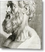 Hippocrates, Greek Physician Metal Print by Science Source
