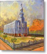 Historic St. George Temple Metal Print by Jeff Brimley