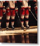 Hockey Reflection Metal Print by Karol Livote