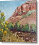 Hogback In Early Fall At Watson Lake Metal Print by Margaret Bobb