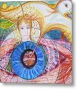 Holy Ghost Shining Eyes Metal Print by Richard  Hubal