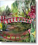 Homage To Monet Metal Print by Mindy Newman
