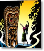 Homage To Tiki Metal Print by Keith Tucker