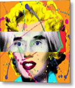 Homage To Warhol Metal Print by Gary Grayson