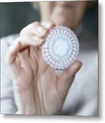 Hormone Replacement Therapy Pills Metal Print by Cristina Pedrazzini