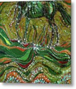 Horse Rises From The Earth Metal Print by Carol Law Conklin