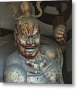 Horyu-ji Temple Gate Guardian - Nara Japan Metal Print by Daniel Hagerman
