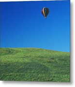 Hot Air Balloon In Hawaii Metal Print by Peter French - Printscapes
