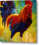 Hot Shot - Rooster Metal Print by Marion Rose