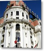 Hotel Negresco In Nice Metal Print by Carla Parris