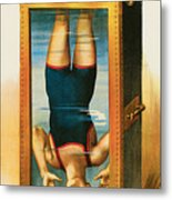 Houdini Water Filled Torture Cell Metal Print by Unknown