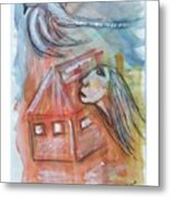 House Without A Door - Haus Ohne Tuer Metal Print by Mimulux patricia no