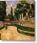 Houses Along A Road Metal Print by Paul Cezanne