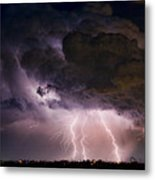 Hwy 52 - Hwy 287 Lightning Storm Image 29 Metal Print by James BO  Insogna