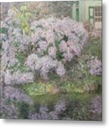 Hydrangeas On The Banks Of The River Lys Metal Print by Emile Claus