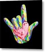 I Heart You Metal Print by Eloise Schneider