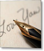 I Love You Metal Print by June Marie Sobrito