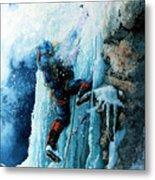 Ice Climb Metal Print by Hanne Lore Koehler